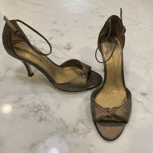 Ann Klein Brass & Gold Heeled Sandals
